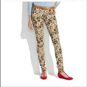 Madewell Floral Skinny Corduroy Pants size 26